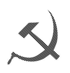 Hammer and sickle sign vector image