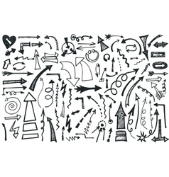 Hand draw Arrows set Doodle vector image