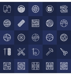 Hand-made icons set vector image vector image