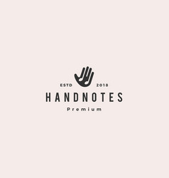 hand music notes logo icon vector image