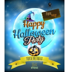 Happy Halloween party Poster EPS 10 vector