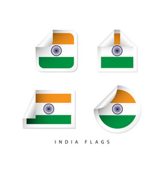 india label flags template design vector image