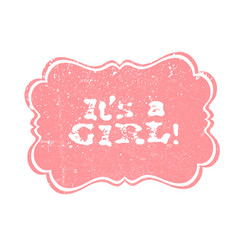 Its a boy lettering its a girl lettering baby vector