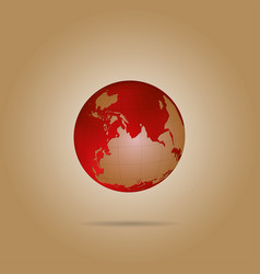 map of the world globe with shadow vector image