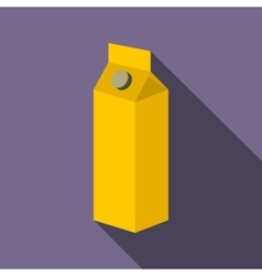 Milk or juice carton box flat icon vector image