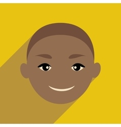 Modern flat icon with long shadow Indian boy vector image