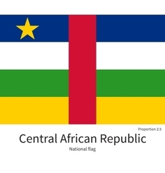 National flag of Central African Republic with vector image
