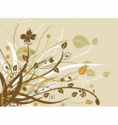 Nature floral design vector