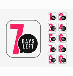 Number of days left promotional banner design vector