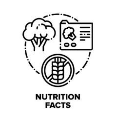 Nutrition facts concept black vector