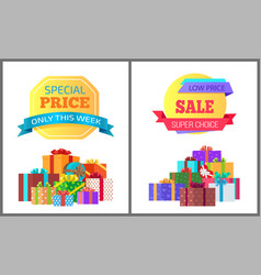 only week special price exclusive posters gifts vector image