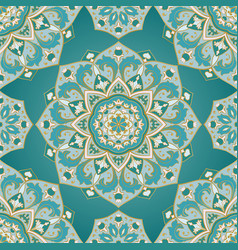 ornamental turquoise pattern vector image
