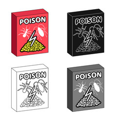 packaging with poison single icon in cartoonblack vector image