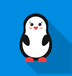 Penguin flat icon for web and mobile vector