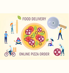 pizza online order vector image