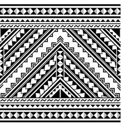 Polynesian geometric seamless pattern vector