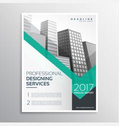 Professional brochure or leaflet template design vector