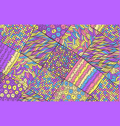 psychedelic surreal fantastic abstract doodle vector image