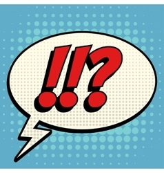 Questions exclamation marks comic book bubble text vector