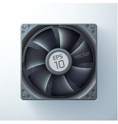 Realistic cooling ventilator tempate vector