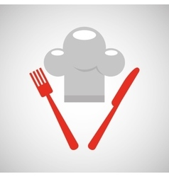 Restaurant chef symbol icon vector