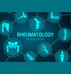Rheumatology medicine joints x-ray banner vector