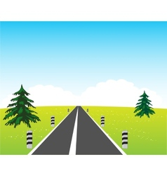 Road in field vector image