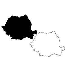 romania map vector image
