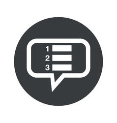 Round numbered list dialog icon vector