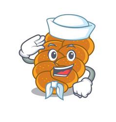 sailor challah character cartoon style vector image