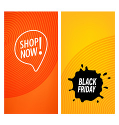 sale banners black friday and shop now vector image