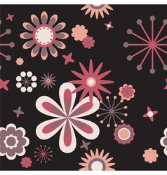 seamless floral pattern of flowers vector image