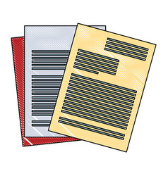 Sheets documents isolated scribble vector