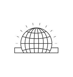 Silhouette closeup flat globe earth world chart vector