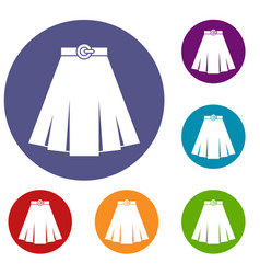 Skirt icons set vector