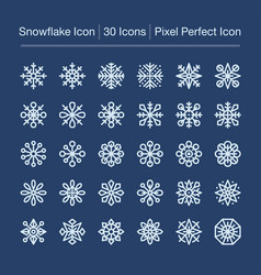 Snowflake line icon vector