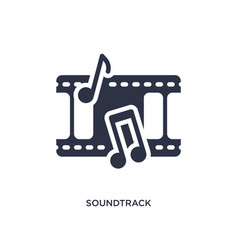 Soundtrack icon on white background simple vector