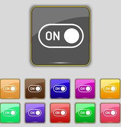 Start icon sign Set with eleven colored buttons vector