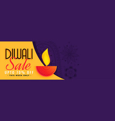 stylish diwali sale banner with text space vector image