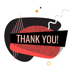 thank you shape trendy 2019 gradient flat vector image
