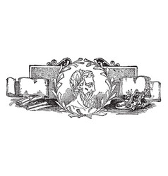 Theocritus vintage vector