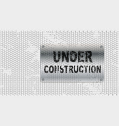 Under construction test on wall vector