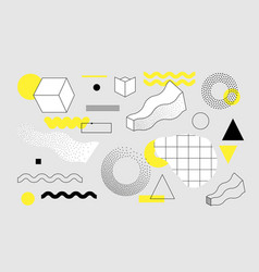 universal trend geometric shapes set vector image