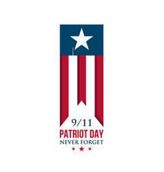 usa patriot day ribbon american national flag vector image