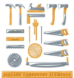 Vintage carpentery elements vector