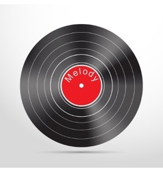 vinyl record web flat icon vector image