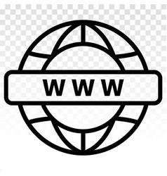 Visit internet online or www web page line art vector