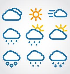 Weather conditon icons vector