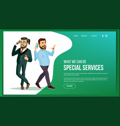 website page business website processes vector image