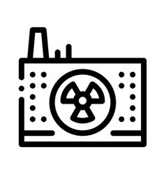 windmill factory icon outline vector image